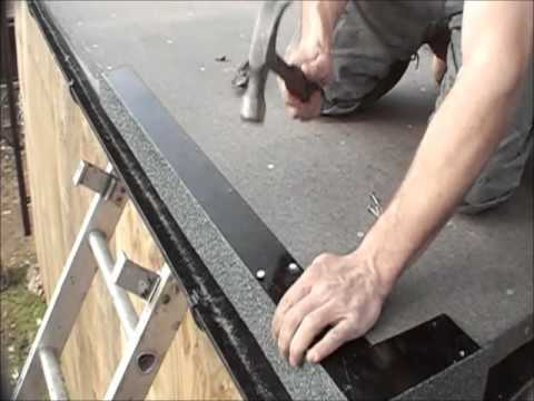 New Flat Roof Installation In England - YouTube