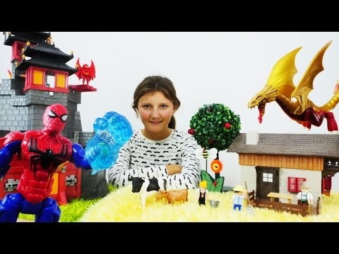Video for children: Spiderman & Lego toys!