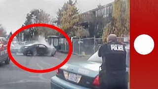 Deadly shootout & police chase caught on camera, Seattle