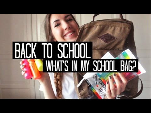 WHAT'S IN MY SCHOOL BAG? (Back to school 2014)