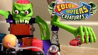 Dr. Bones Color Lab Playset Hot Wheels Color Shifters Cars