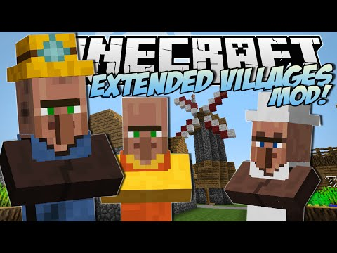 Minecraft | EXTENDED VILLAGES MOD! (Miners, Bakers, Village Finder & More!) | Mod Showcase
