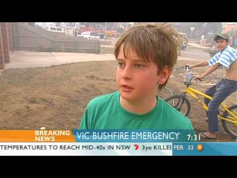Victorian bushfire recap on Weekend Sunrise