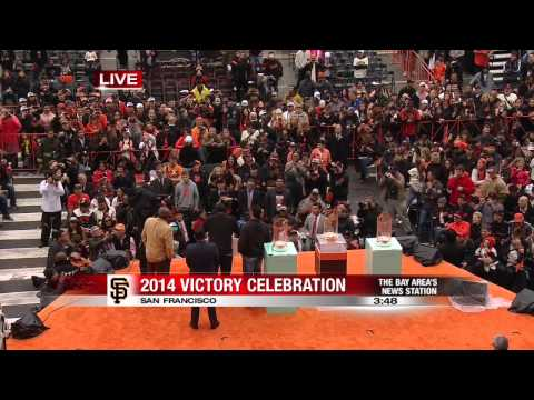 Giants Celebration Video   Pablo Sandoval and Gregor Blanco