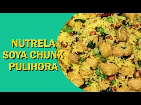 Soya Chunk Pulihora | Pulihora Recipe | सोया चंक पुलिहोरा | South Indian Recipes | Food Tak