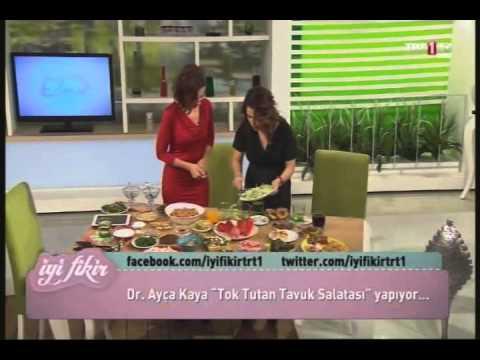 Dr. Ayça Kayadan tok tutan tavuklu salata tarifi