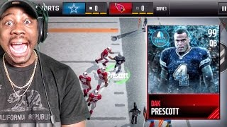 99 FROZEN HERO DAK PRESCOTT IS A MONSTER! Madden Mobile 17 Gameplay Ep. 14