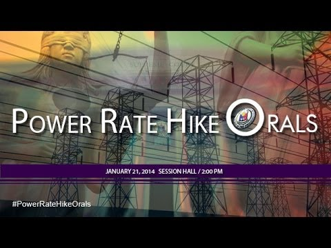 Power Rate Hike Oral Arguments
