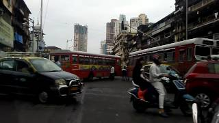 Driving through streets of mumbai central to churchgate