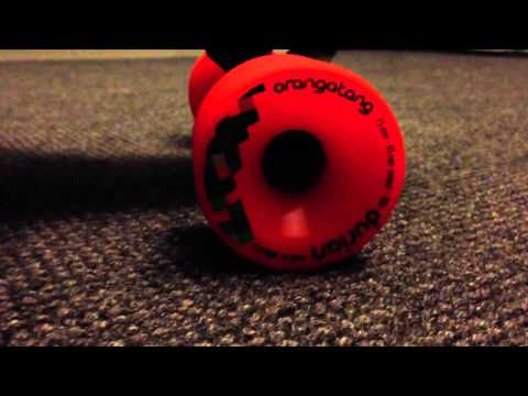 Longboard globe prowler, orangatang wheels