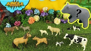 "BABY ANIMALS in Play Doh! ""Jungle Daddy"" learn animals surprise safari zoo wild"