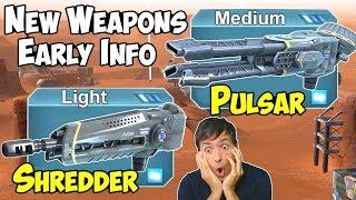 War Robots New Weapons Shredder & Pulsar - Test Server Early WR News