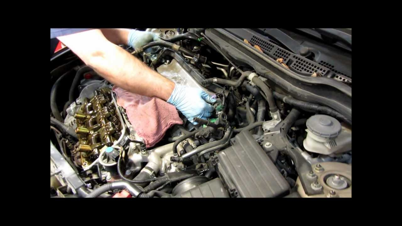How to adjust valve clearence on a 2003 Honda Accord v6 - YouTube