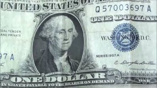 BEST $1 FIND EVER bank strap hunting reveals $1 SILVER CERTIFICATE