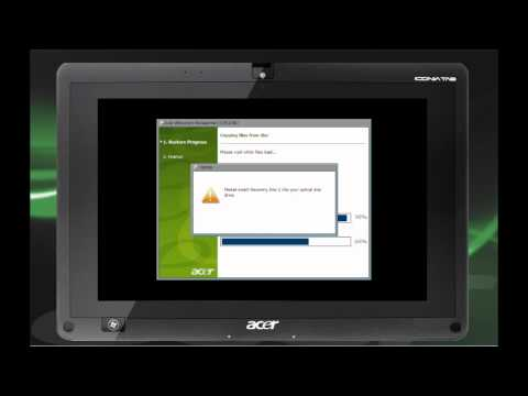 Acer Iconia Tab W500 - How to start the eRecovery process (English)