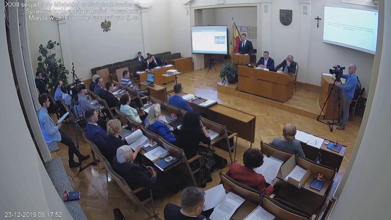 XXIII sesja Rady Miejskiej 30.12.2019
