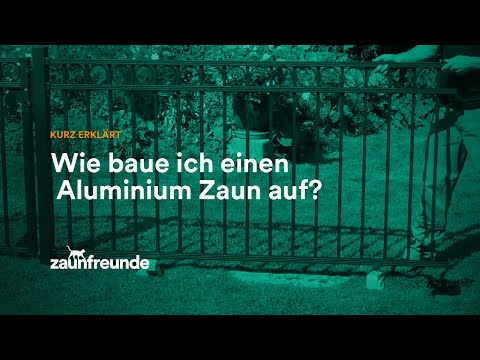 Schmuckzaun Circle Und Schmuckzaun Chaussee Aus Alu - Montageanleitung