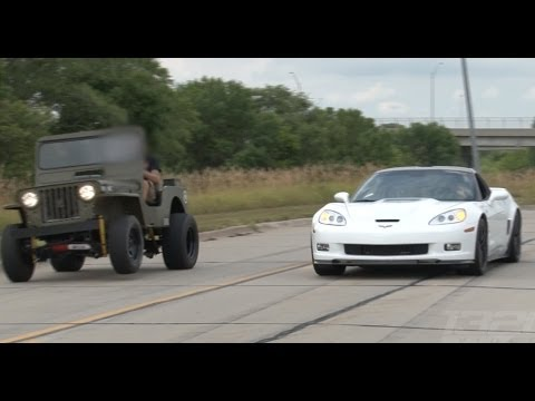 ZR-1 Corvette vs LSx Willy's Jeep