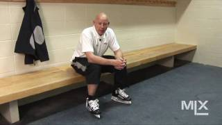how to lace hockey skates to avoid lace bite