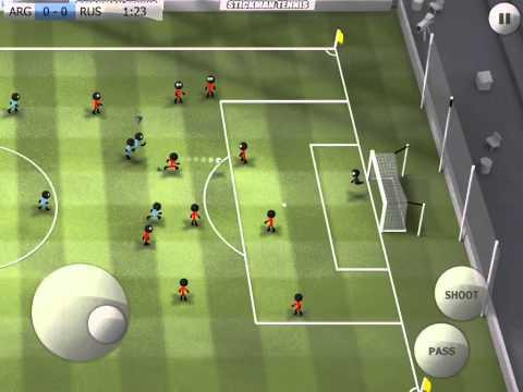 Stickman Soccer - Argentina 1 / Russia 0