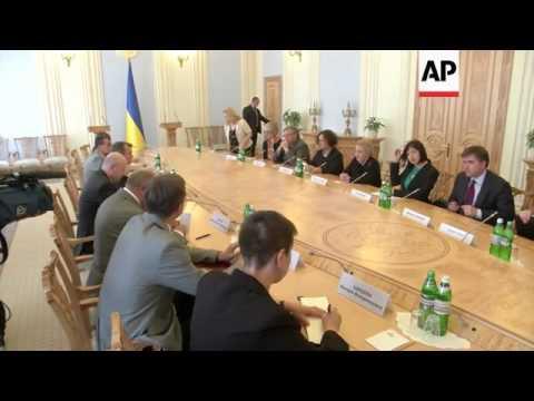 Former US Secretary of State meets acting president Turchynov