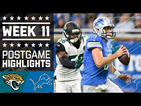 Jaguars Vs Lions Nfl Week 11 Game Highlights