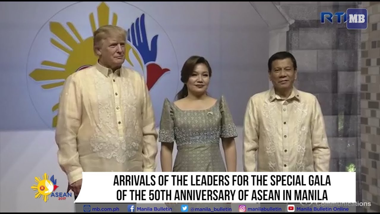 Arrivals of leaders on the special gala dinner for the 50th ASEAN anniversary in Manila