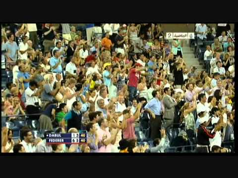 Roger Federer Hits Another Tweener Between The Leg Shot usopen 2010 Video
