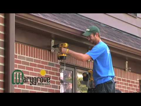 Retractable Awning Installation Video Marygrove Awnings