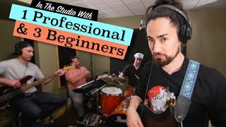 1 Professional & 3 Beginners Go To a Recording Studio