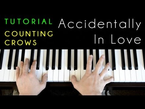 Counting Crows - Accidentally In Love (Shrek 2) (piano tutorial &amp; cover)
