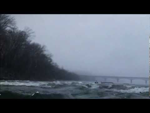 Kayaking White Horse Rapid at 5 ft. Potomac at Harpers Ferry
