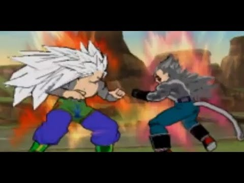 Dbz Budokai Dark Sayan Goku Ssj5 Vs Vegeta Ssj5 video