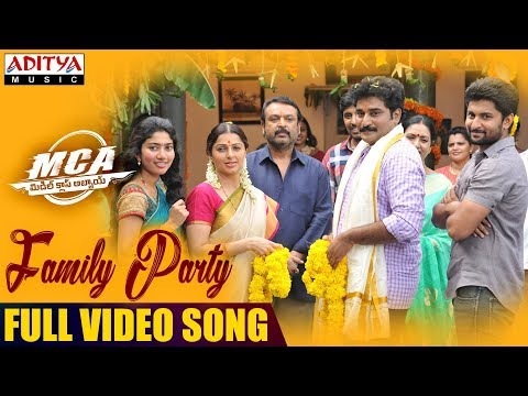 Family Party Full Video Song | MCA Full Video Songs| Nani, Sai Pallavi | DSP | Dil Raju