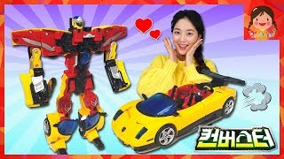 Hello carbot Converters Nice open car appearance! Quickly Transform Battle kids toy robot [yura]