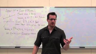 Calculus 3 Lecture 11.5:  Lines and Planes in 3-D