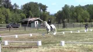 Claudia Morgan & Lira; Caber Farm Horse Trials, August 2014
