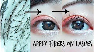 How to Get Super Long Lashes with Applying Fibers!
