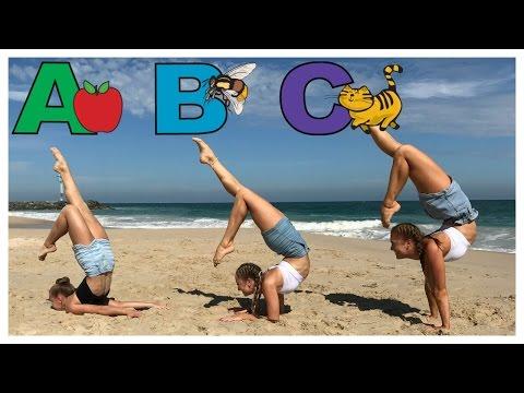 Alphabet Gymnastics Challenge | The Rybka Twins