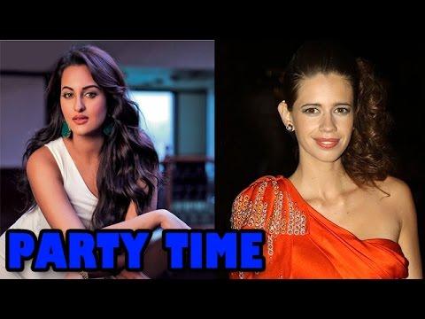 Sonakshi Sinha and Kalki Koechlin at a friend's party!   Bollywood News
