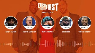 First Things First Audio Podcast(8.2.19)Cris Carter, Nick Wright, Jenna Wolfe | FIRST THINGS FIRST