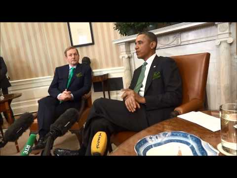 President Obama welcoms Enda Kenny to the White House