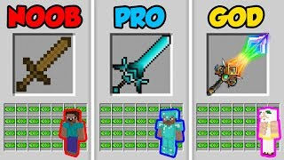 Minecraft NOOB vs. PRO vs. GOD: $1,000,000 SWORD BATTLE in Minecraft! (Animation)