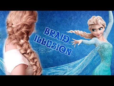 Frozen's Elsa hair tutorial - Quick and easy HOLIDAY braid illusion