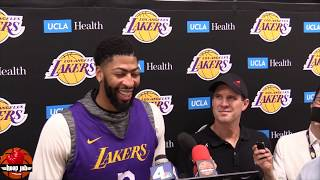"Anthony Davis On NBA Stars Using Load Management ""If I Can Play I'm Gonna Play"" HoopJab NBA"
