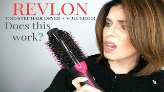 Revlon Oval One-Step Hair Dryer + Volumizer | DOES IT WORK? | @girlythingsby_e