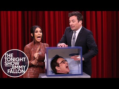 Jimmy and Kim Kardashian West Freak Out Touching Mystery Objects