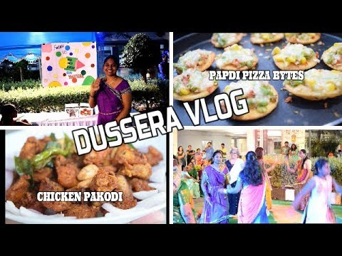 A day in my life || Dussera Vlog 2018 || Chicken Pakodi in Telugu || Papdi Pizza bytes in Telugu