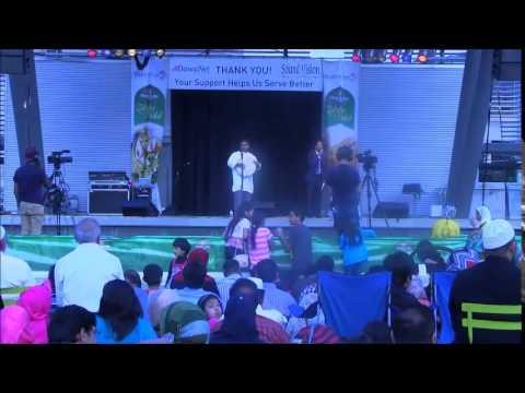 Qari Youssef Performing Nasheed @ MuslimFest Canada (100% Duff)