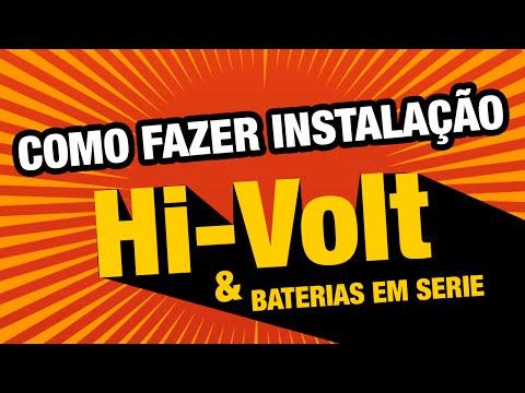 Como Instalar e Como Funcionam os Amplificadores HiVolt e Baterias em Serie e Paralelo - SomSC